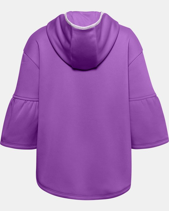 Girls' Armour Fleece® Poncho, Purple, pdpMainDesktop image number 1