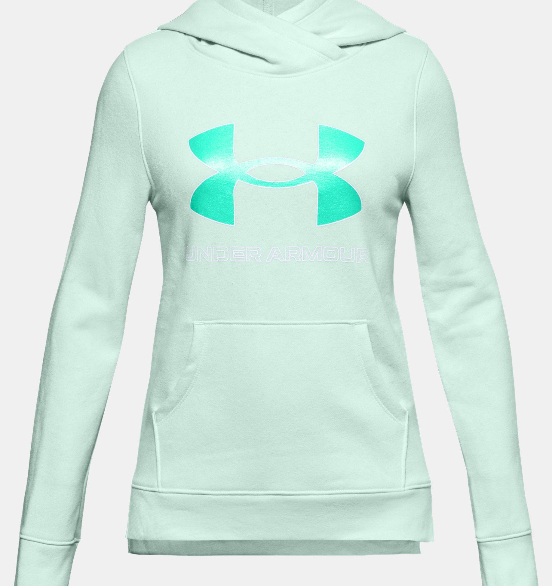 Underarmour Girls UA Rival Fleece Logo Hoodie