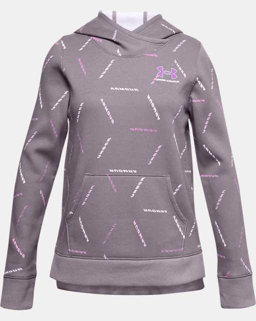 Sweat à capuche UA Rival Fleece Printed pour fille