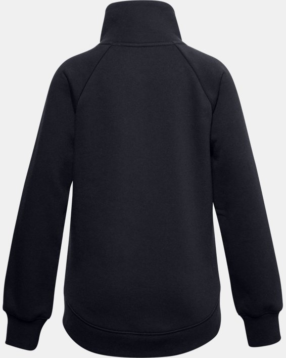 Girls' UA Rival Fleece Wrap Neck, Black, pdpMainDesktop image number 1