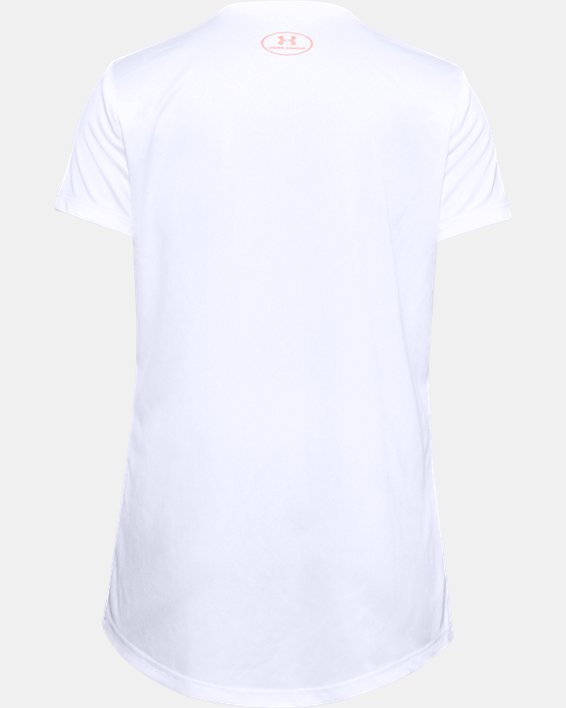 Girls' UA Tech™ Sport inspired Short Sleeve, White, pdpMainDesktop image number 1