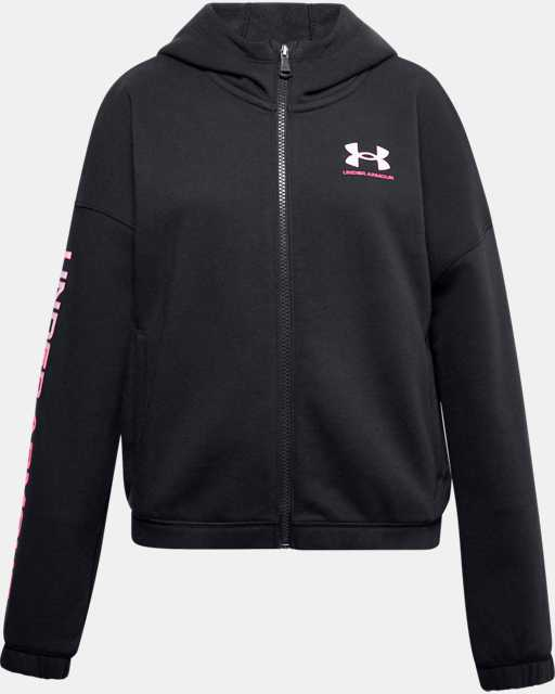 Girls' UA Rival Fleece Full Zip Hoodie