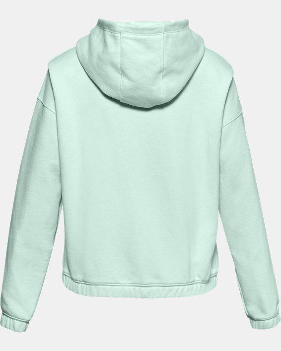 Veste à capuche UA Rival Fleece Full Zip pour fille, Blue, pdpMainDesktop image number 1