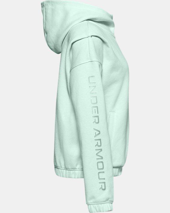 Veste à capuche UA Rival Fleece Full Zip pour fille, Blue, pdpMainDesktop image number 2
