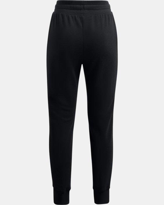 Girls' UA Rival Fleece Joggers, Black, pdpMainDesktop image number 1