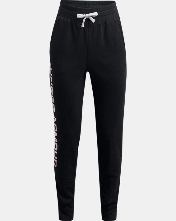 Girls' UA Rival Fleece Joggers, Black, pdpMainDesktop image number 0
