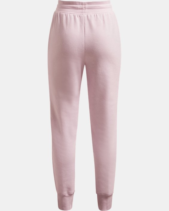 Girls' UA Rival Fleece Joggers, Pink, pdpMainDesktop image number 1