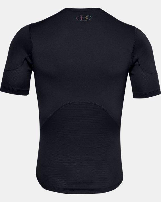 Men's UA RUSH™ HeatGear® 2.0 Compression Short Sleeve, Black, pdpMainDesktop image number 4