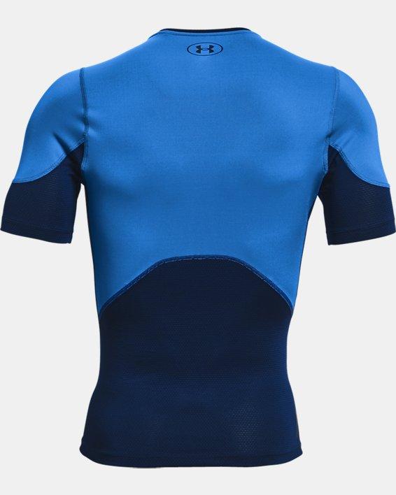 Men's UA RUSH™ HeatGear® 2.0 Compression Short Sleeve, Blue, pdpMainDesktop image number 5