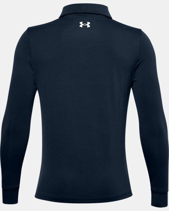 Boys' UA Playoff Long Sleeve Polo, Navy, pdpMainDesktop image number 1
