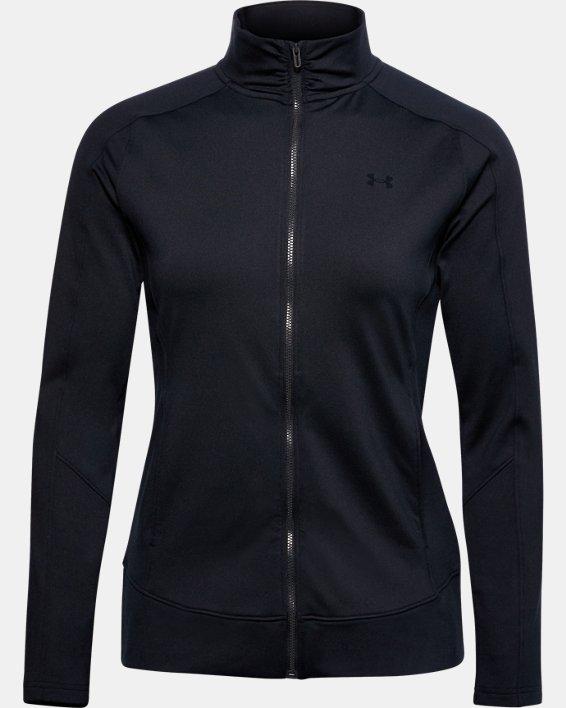Women's UA Storm Midlayer Full Zip, Black, pdpMainDesktop image number 0