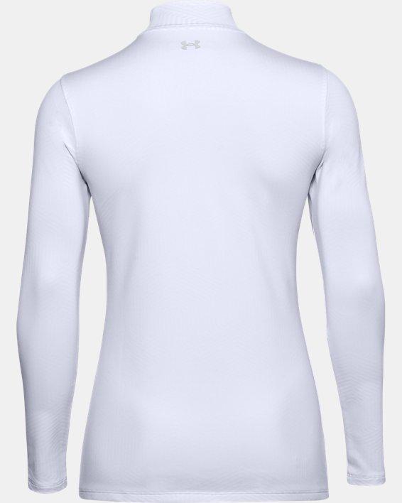 Women's ColdGear® Infrared Long Sleeve Golf Mock, White, pdpMainDesktop image number 1