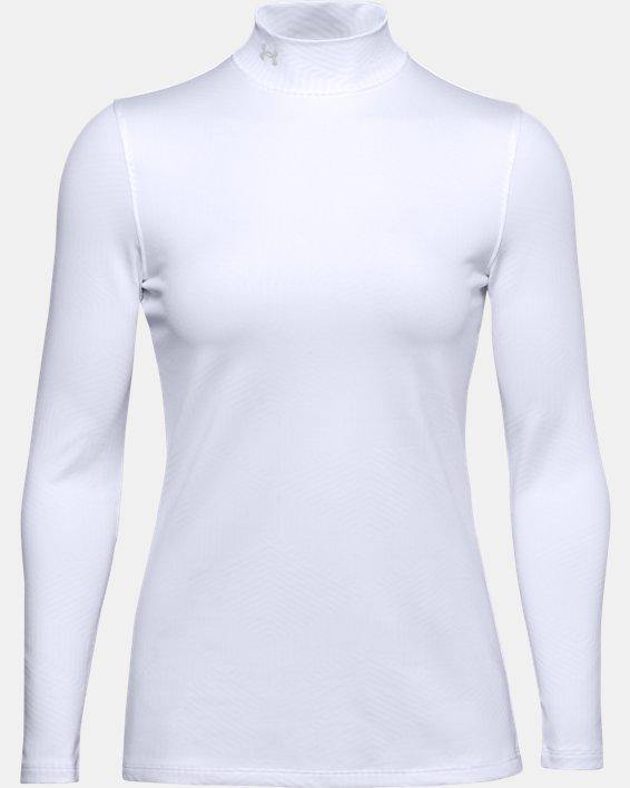 Women's ColdGear® Infrared Long Sleeve Golf Mock, White, pdpMainDesktop image number 0