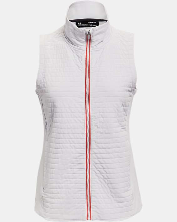 Women's UA Storm Revo Full Zip Vest, Gray, pdpMainDesktop image number 3