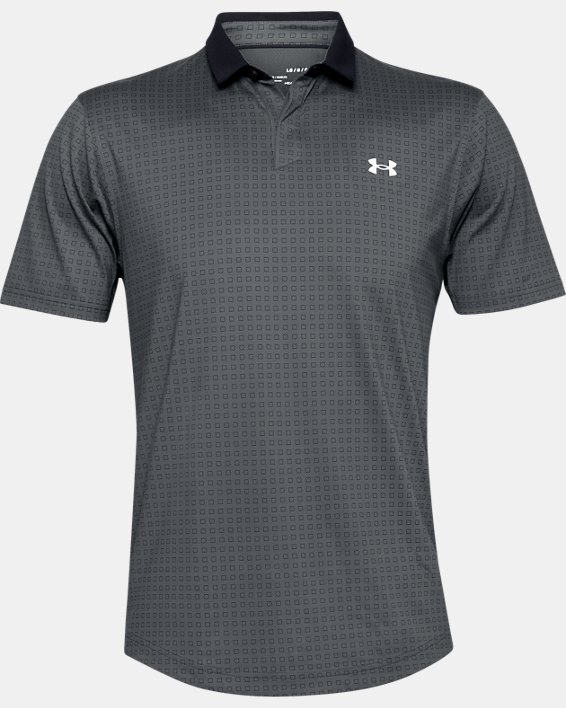 Men's UA Iso-Chill Grid Polo, Gray, pdpMainDesktop image number 3