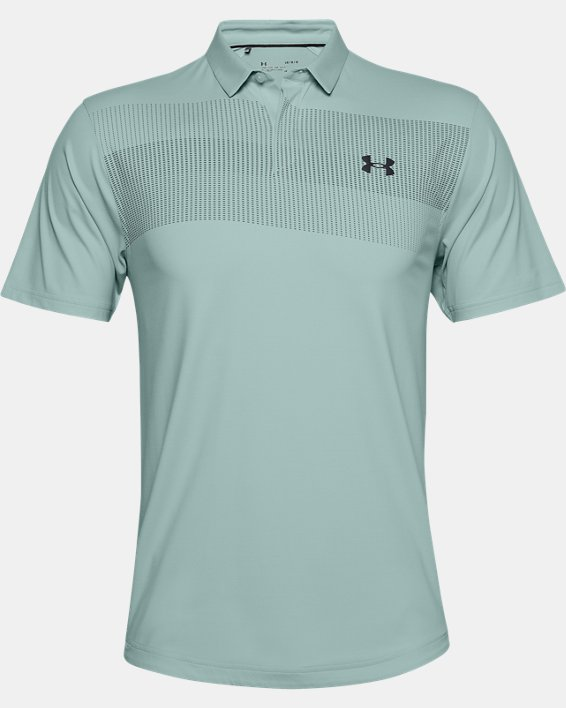 Men's UA Iso-Chill Chest Graphic Polo, Blue, pdpMainDesktop image number 0