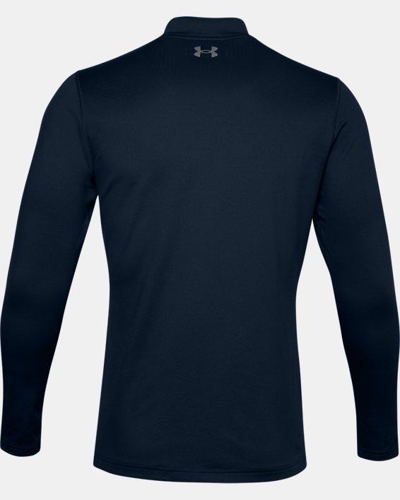 Men's ColdGear® Infrared Long Sleeve Golf Mock, Navy, pdpMainDesktop image number 4