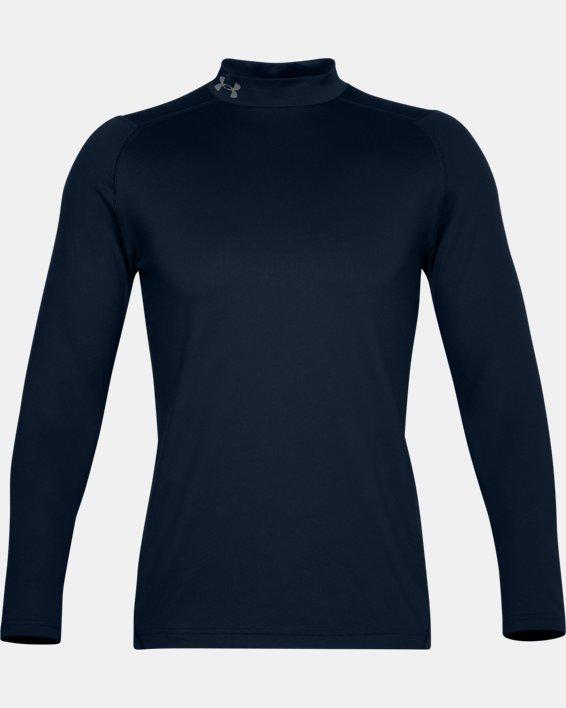 Men's ColdGear® Infrared Long Sleeve Golf Mock, Navy, pdpMainDesktop image number 3
