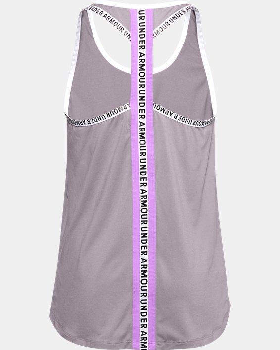 Girls' UA Knockout Graphic Tank, Purple, pdpMainDesktop image number 1