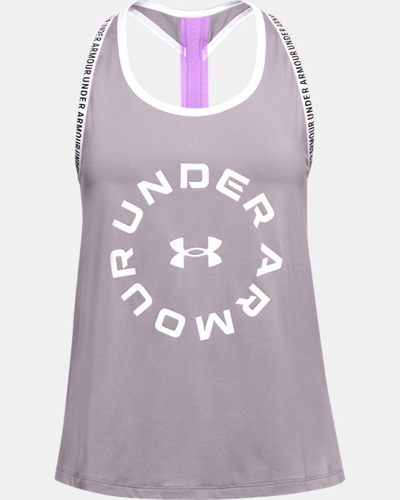 Girls' UA Knockout Graphic Tank, Purple, pdpMainDesktop image number 0