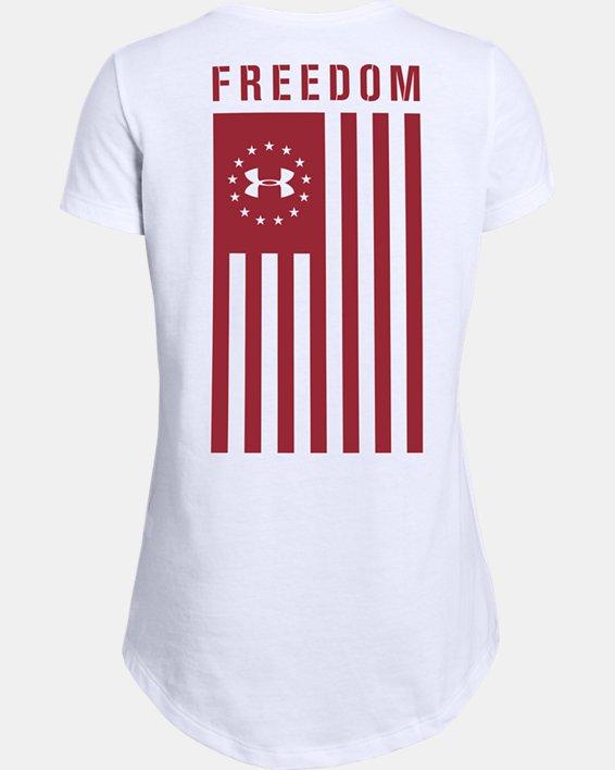 Girls' UA Freedom Flag Short Sleeve, White, pdpMainDesktop image number 1