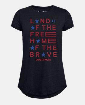 3419e39d Girls' UA Freedom Land Of The Free Short Sleeve 2 Colors Available $20
