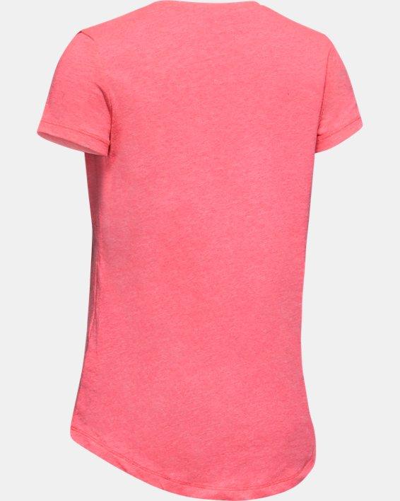 Girls' UA Freedom USA Long Short Sleeve, Pink, pdpMainDesktop image number 1