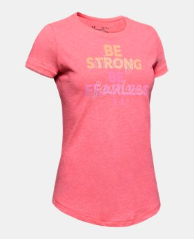 69b38605a Girls' UA Be Strong Short Sleeve 2 Colors Available $20