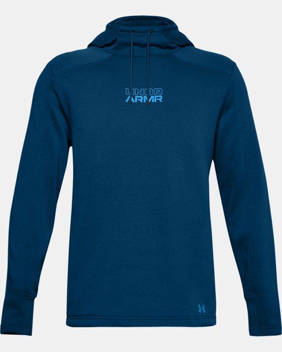 Men's UA Baseline Fleece Hoodie, Blue, pdpMainDesktop image number 0