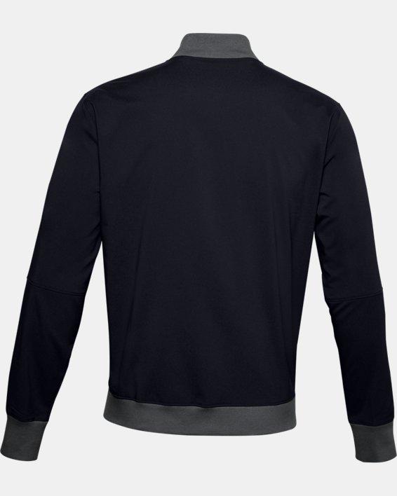 Men's UA Accelerate Bomber Jacket, Black, pdpMainDesktop image number 4