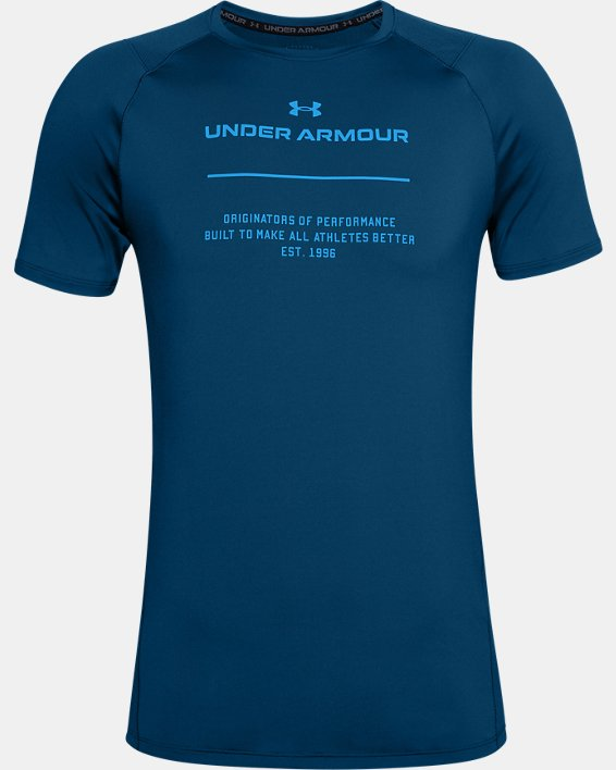 Men's UA MK-1 Graphic Short Sleeve, Blue, pdpMainDesktop image number 4