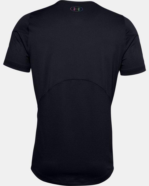 Men's UA RUSH™ HeatGear® 2.0 Short Sleeve, Black, pdpMainDesktop image number 6