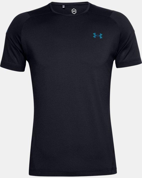 Men's UA RUSH™ HeatGear® 2.0 Short Sleeve, Black, pdpMainDesktop image number 5