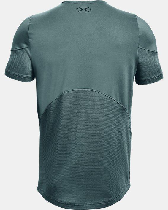 Men's UA RUSH™ HeatGear® 2.0 Short Sleeve, Blue, pdpMainDesktop image number 5