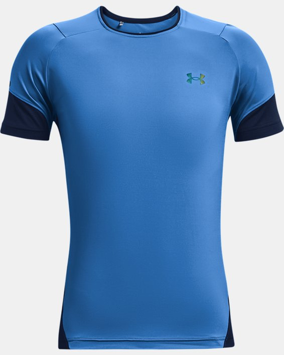 Men's UA RUSH™ HeatGear® 2.0 Short Sleeve, Blue, pdpMainDesktop image number 4