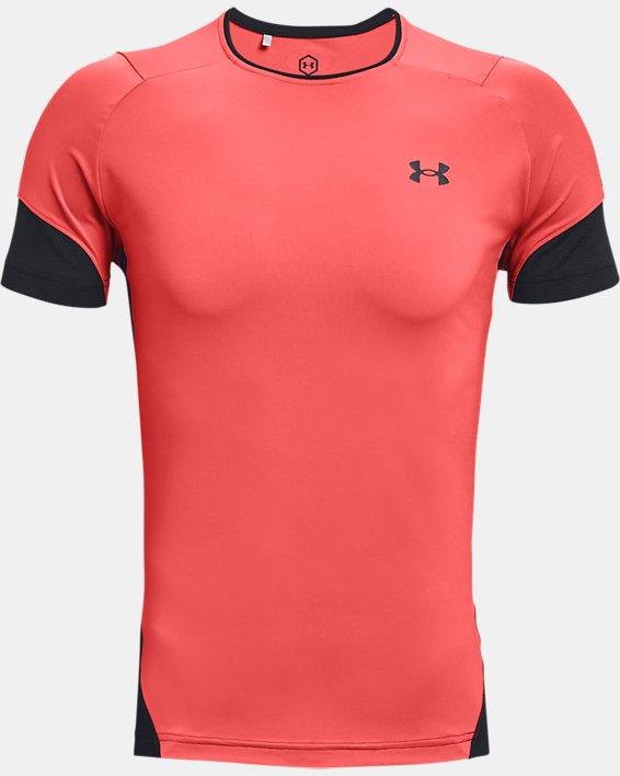 Men's UA RUSH™ HeatGear® 2.0 Short Sleeve, Red, pdpMainDesktop image number 4