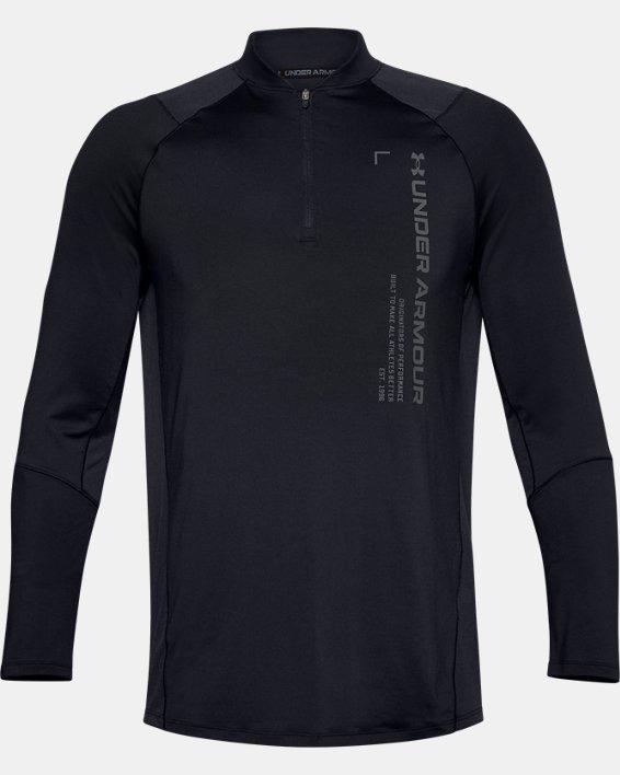Haut UA MK-1 Graphic ¼ Zip pour homme, Black, pdpMainDesktop image number 3