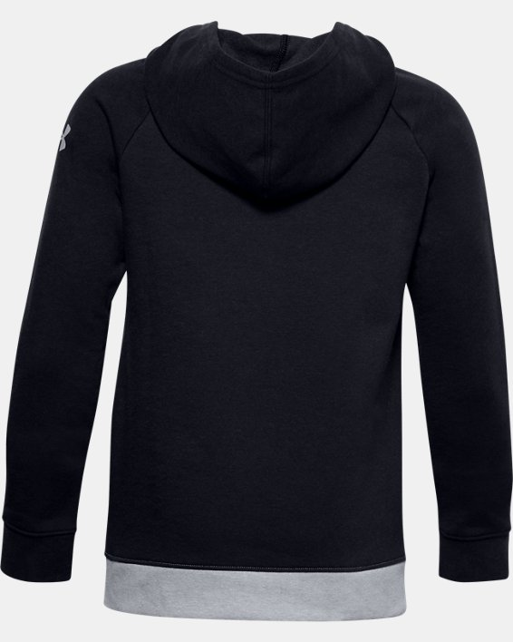 Boys' UA Graphic Hoodie, Black, pdpMainDesktop image number 1