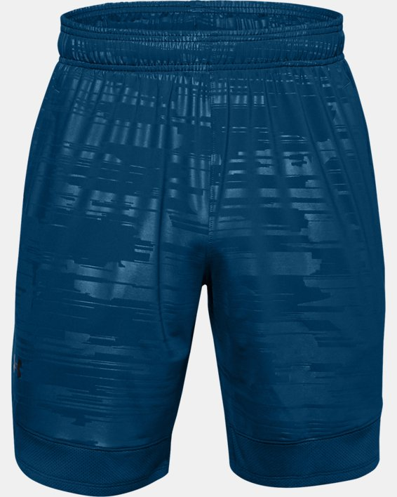 Men's UA Training Stretch Printed Shorts, Blue, pdpMainDesktop image number 2