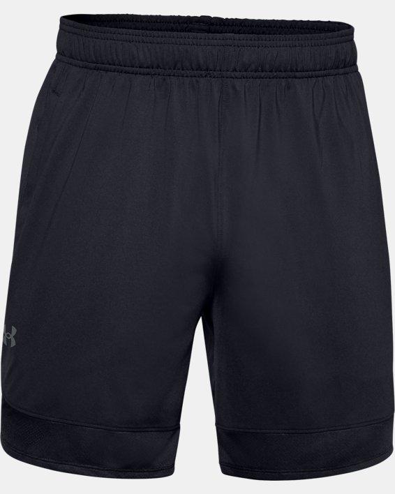 Short UA Training Stretch 18cm pour homme, Black, pdpMainDesktop image number 4