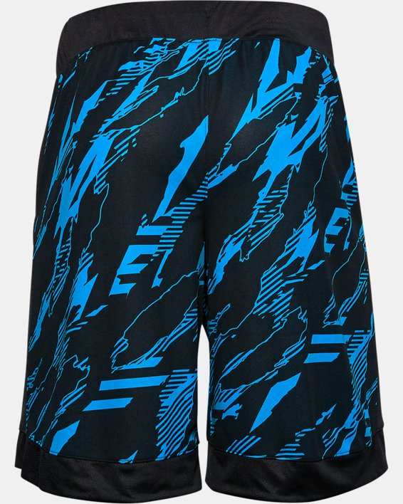 Men's UA Printed Retro Shorts, Black, pdpMainDesktop image number 3