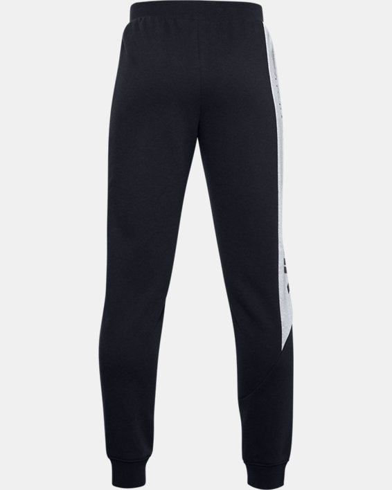 Boys' UA Baseline Fleece Pants, Black, pdpMainDesktop image number 1