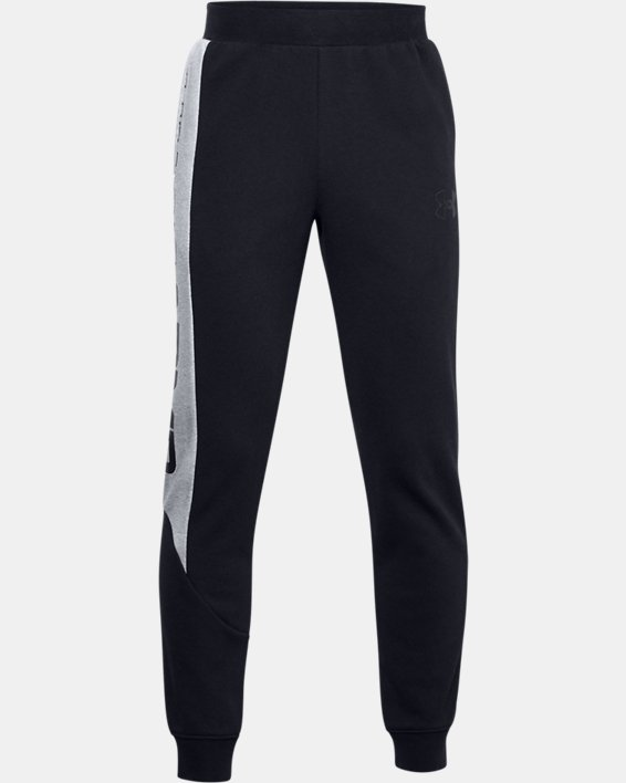 Boys' UA Baseline Fleece Pants, Black, pdpMainDesktop image number 0