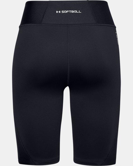 Women's UA Softball Slider Shorts, Black, pdpMainDesktop image number 1