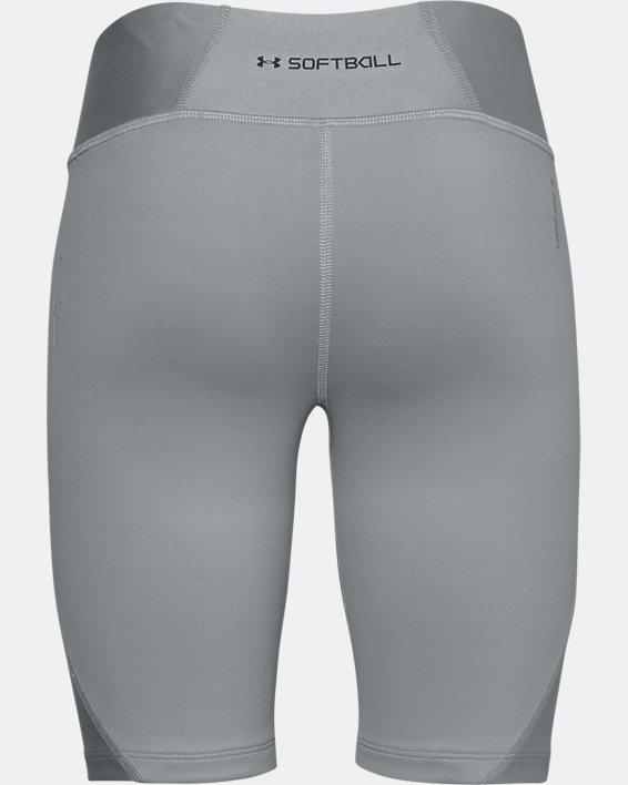 Girls' UA Softball Slider Shorts, Gray, pdpMainDesktop image number 1