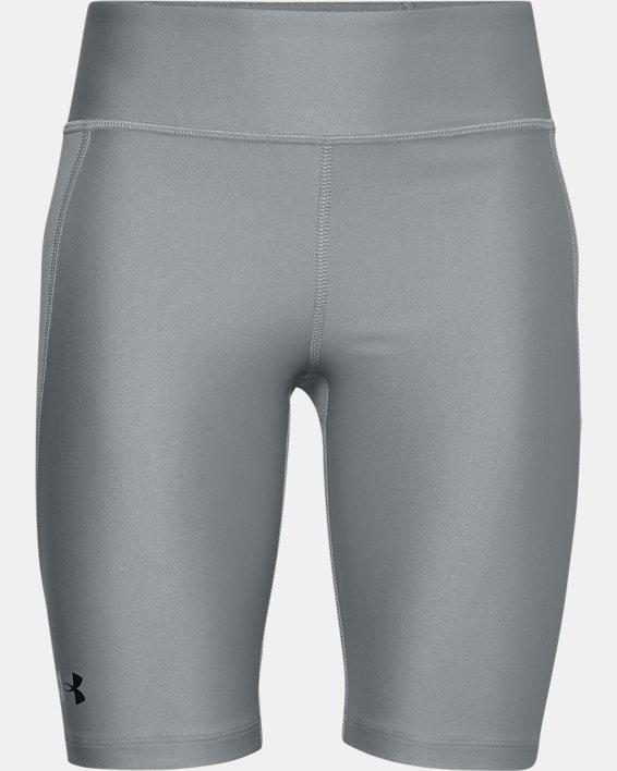 Girls' UA Softball Slider Shorts, Gray, pdpMainDesktop image number 0