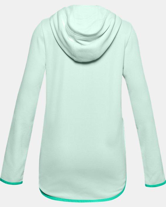 Girls' Armour Fleece® Full Zip Hoodie, Blue, pdpMainDesktop image number 1