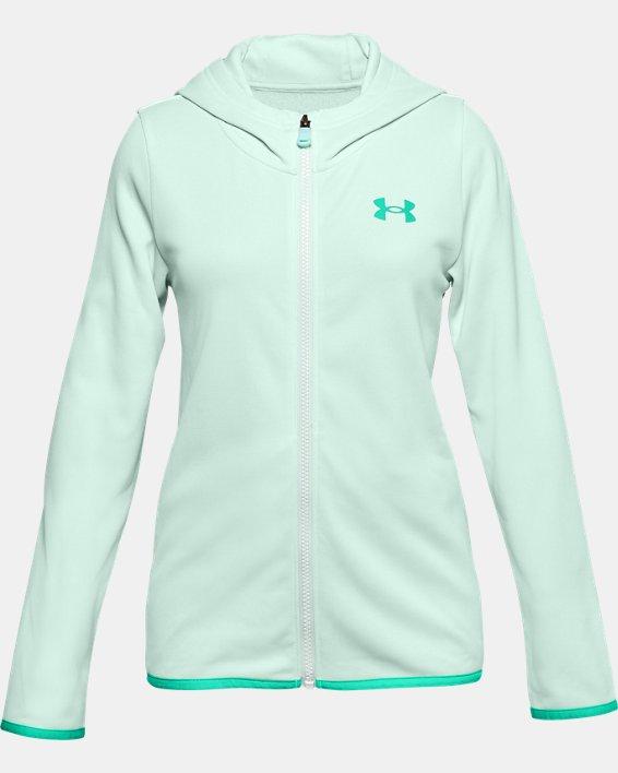 Girls' Armour Fleece® Full Zip Hoodie, Blue, pdpMainDesktop image number 0
