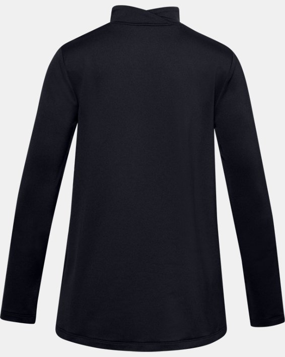 Girls' ColdGear® Long Sleeve, Black, pdpMainDesktop image number 1