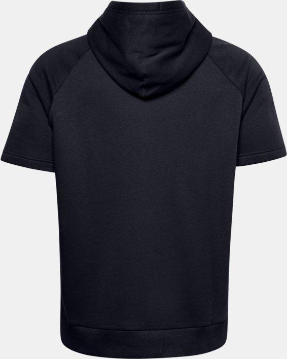 Sweat à capuche et manches courtes UA Rival Fleece Big Logo pour homme, Black, pdpMainDesktop image number 6